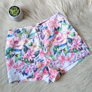 EUC Forever 21 High Waisted Floral Shorts Small
